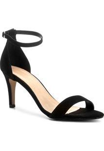 Sandália Couro Shoestock Naked Salto Fino Feminina - Feminino