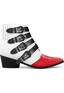 Toga Pulla Ankle Boot De Couro - White