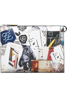 Fendi Clutch Com Estampa Karl Kollage - Estampado