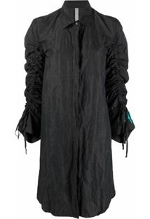 Antonella Rizza Vestido Com Mangas Drapeadas - Preto