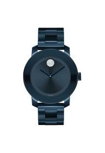 Relógio Movado Feminino Aço Azul - 3600388