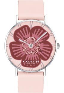 Relógio Coach Feminino Couro Rosa - 14503231