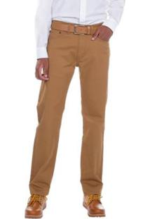 Calça Jeans Levis 505 Regular Masculina - Masculino-Bege Escuro