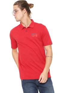 a437485f05 ... Camisa Polo Calvin Klein Jeans Logo Vermelha