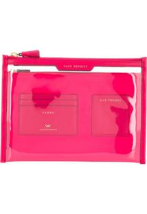 Anya Hindmarch Clutch Safe Deposit - Rosa