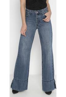 Jeans High Pantalona Thale Estonado- Azul- John Johnjohn John