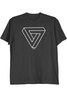 Camiseta Cnx Clothing Triângulo Preta