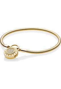 Bracelete Crie & Combine Shine - Liso Fecho Pandora Cadeado