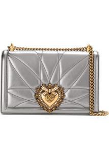 Dolce & Gabbana Bolsa Tiracolo Devotion De Couro - Prateado