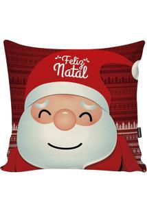Capa Para Almofada Papai Noel- Branca & Vermelha- 45Stm Home