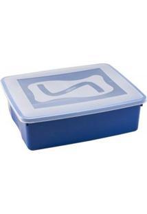 Caixa Organizadora Com Tampa 6 Litros Azul