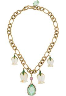 Dolce & Gabbana Short Chain Flower Necklace - Dourado