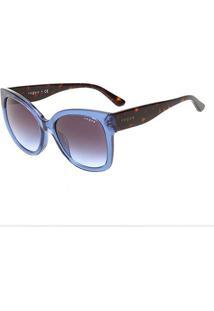 Óculos De Sol Vogue Metal Com Lentes De Plástico 0Vo5338S28304Q54 Feminino - Feminino-Azul
