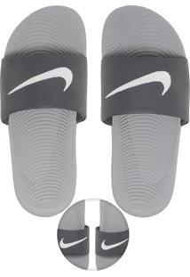 Chinelo Slide Nike Sportswear Kawa Cinza