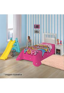 Manta Fleece Solteiro Patrulha Caninaâ®- Pink & Amarela