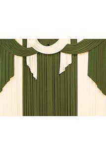 Cortina Casa Conforto Elegance 3M- Verde Taipa