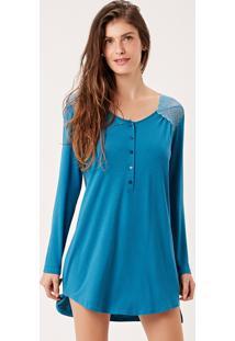 Camisola Joge Curta Azul - Azul - Feminino - Dafiti