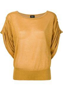 Liu Jo Blusa Com Drapeado - Amarelo