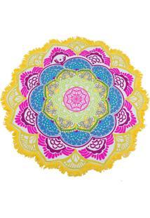 Canga Artestore Redonda Mandala Saída De Praia, Yoga Ou Decoração Multicolorido