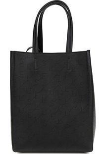 Bolsa Ellus Shopping Bag Dupla Face Feminina - Feminino-Preto
