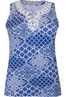 Regata Pau A Pique - Feminino-Azul