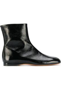 Marni Ankle Boot Flat - Preto