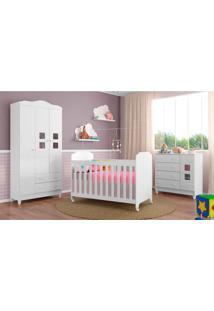 Dormitório Decorado Infantil Carol Unissex Branco