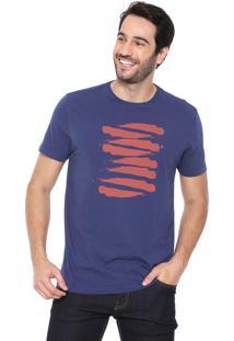 Camiseta Aramis Estampada Azul-Marinho