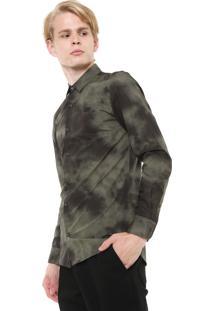 Camisa Lacoste L!Ve Reta Tie Dye Verde