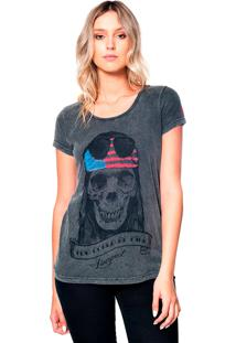 Camiseta Estonada Skull Axl Useliverpool Cinza