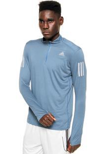 Blusa Adidas Performance Rs Ls Zip Azul