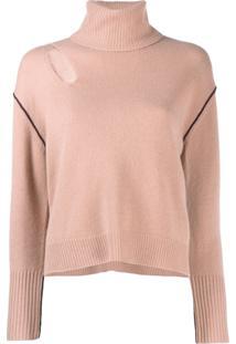 Pinko Suéter Com Detalhe Vazado - Neutro