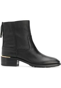 Jimmy Choo Ankle Boot De Couro - Preto
