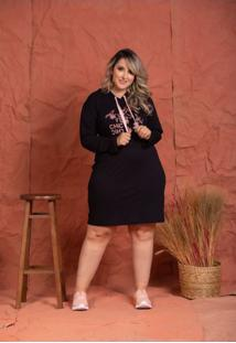 Vestido Fernanda Silk Black Plus Size