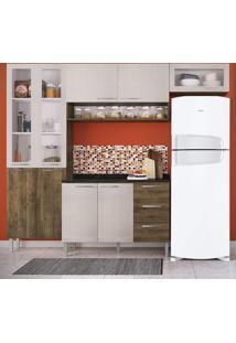 Cozinha Compacta 9 Portas Heloisa 0425T Demolição/Mel 3D - Genialflex