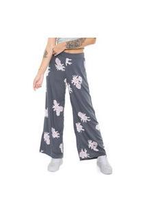 Calça Roxy Pantalona Midnight Avenue Grafite