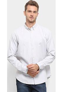 Camisa Manga Longa Reserva Regular Oxford Masculina - Masculino-Branco
