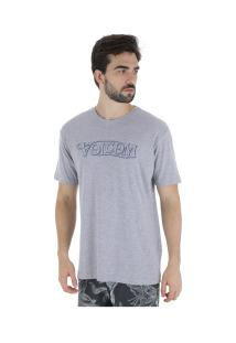 Camiseta Volcom Straight Up - Masculina - Cinza