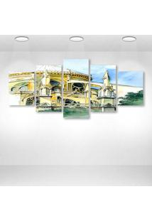 Quadro Decorativo - Architecture26 - Composto De 5 Quadros - Multicolorido - Dafiti