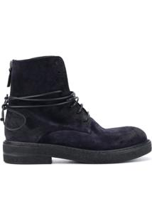 Marsèll Suede Ankle Boots With Lace Up Detail - Azul
