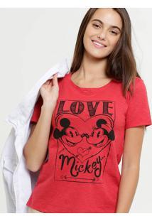 Blusa Feminina Flamê Mickey Minnie Disney