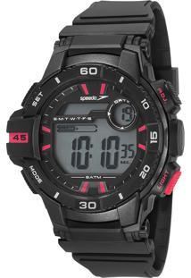 Kit De Relógio Digital Speedo Masculino + Carregador Portátil - 11008G0Evnp2Ka 9611361 Preto