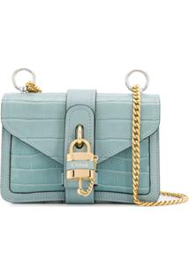 Chloé Aby Chain Crossbody Bag - Azul