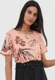 Camiseta Lança Perfume Floral Laranja