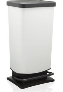 Lixeira Rotho Plastico Branco 40L