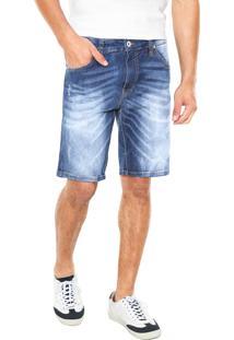 Bermuda Jeans Colcci Pespontos Azul