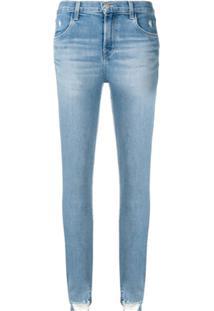 J Brand Distressed Skinny Jeans - Azul