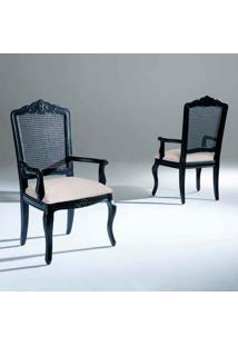 Cadeira Com Braço Inspiração Madeira Maciça Design Clássico Avi Móveis