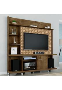 Estante Para Tv Taurus Madeira Rústica/Madeira 3D - Móveis Bechara
