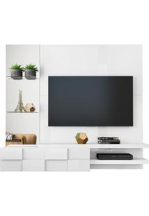 "Home Suspenso Tv Até 55"" Turim Branco Laca"